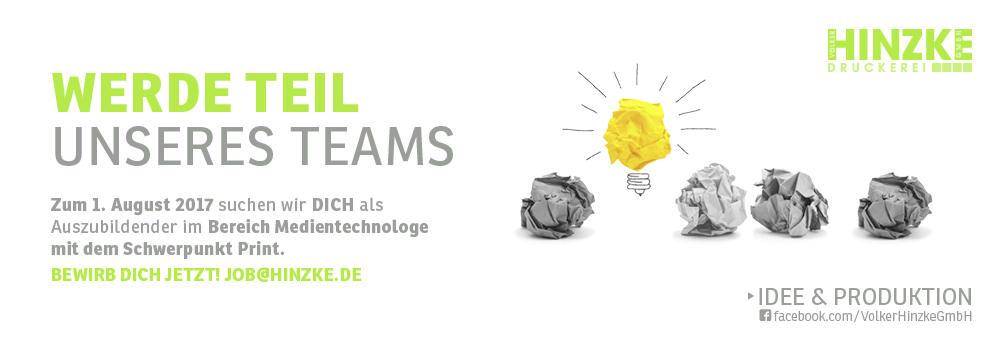 GESUCHT: Azubi Medientechnologen - im Bereich Digitaldruck