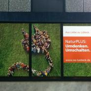 Schaufensterwerbung in Lübeck