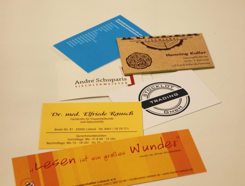 Visitenkarten Machen 1druck Druckerei Hinzke