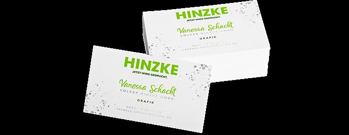 Visitenkarten - Druckerei Hinzke in Lübeck