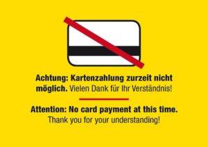 UPDATE: EC-Karten Gerät ist wieder einsatzbereit!